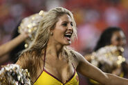 Washington Redskins cheerleader @ game vs New England Patriots 10