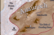 Location of Orem in Relation to Anauroch Map DR 1374