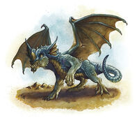 Blue dragon Wyrmling