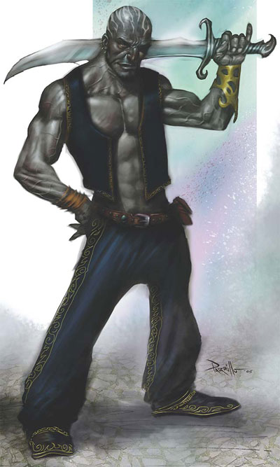 elementali Genio Khayal - by Lucio Parrillo Tome of Magic (2006) © Wizards of the Coast & Hasbro