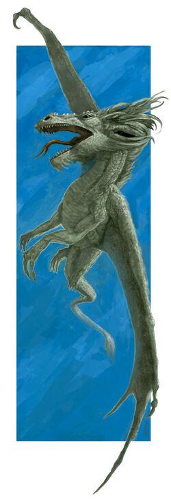 draconic deities Bahamut in volo - autore ignoto Pubblicazione incerta © dell'autore