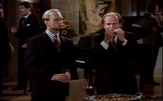 Wikia Frasier - Frasier 'fixes' the finger food
