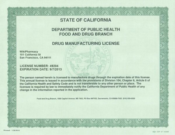 WikiPharmacy license