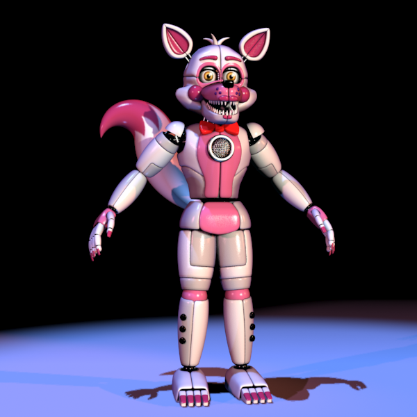 Sister Location Funtime Foxy Better In 3d I Promise Minecraft Skin
