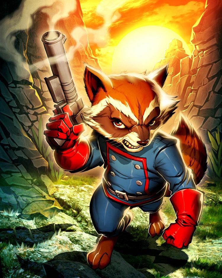 Rocket Raccoon | FreddyKnifeFingers Wiki | FANDOM powered ...