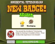 Accidental Veterinarian Badge Complete