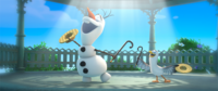 Olaf imagines summer