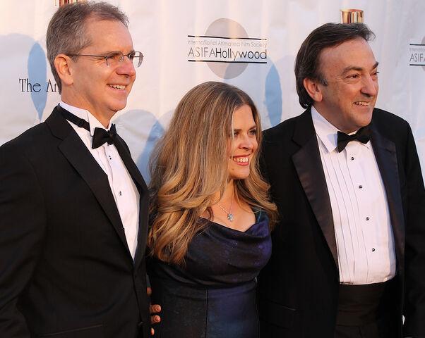 File:41st Annie Awards, Chris Buck, Jennifer Lee, Peter Del Vecho-crop.jpg