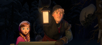 Kristoff sees the wolves
