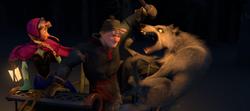 Wolves attack Kristoff