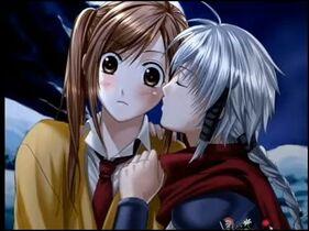 Mariko kiss shura cheek