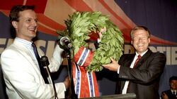 Carl I. Hagen election night 1989