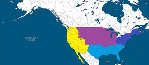 Second American Civil War Combanants Map