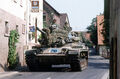 US Army M60 tank in German village.jpg