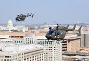 DC Guard UH-72s over the Capital