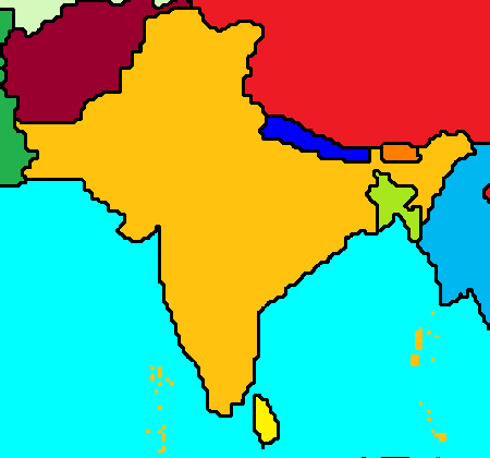 File:Map of India and surrounding countries.png