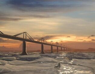 Berring strait bridge