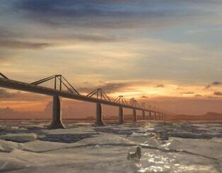 Berring strait bridge