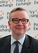 Michael Gove at Policy Exchange delivering his keynote speech 'The Importance of Teaching' (cropped)