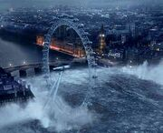 Massive wave hitting london