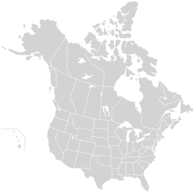 USA States & Canadian Provinces Map