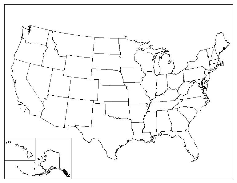 United States Outline Map Printable With State Names - Printable us state map with names
