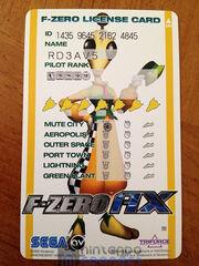F-Zero License Card