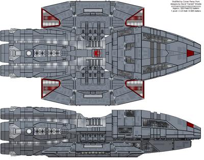 Hermes Class Escort Battlestar