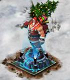 Santa Sculpture