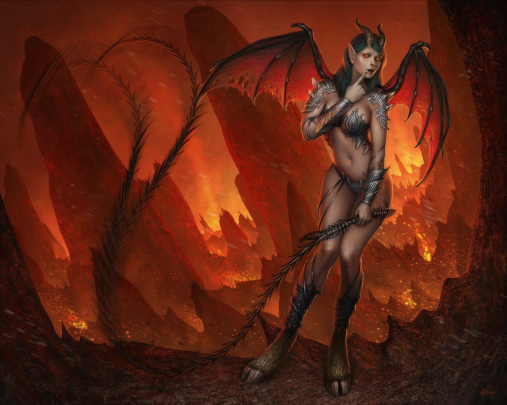 How to get a succubus demon to  nsfw images