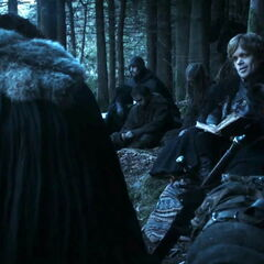 Jon and Tyrion on the road to Castle Black in
