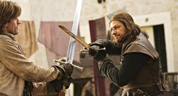 File:Ned Stark vs Jaime Lannister.jpg