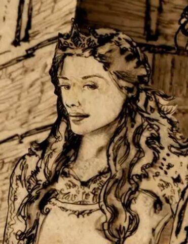 File:Cersei during her wedding to Robert.jpg