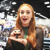 Sophie Turner with Funko Dark Sansa
