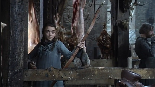 File:Winter is Coming Arya shoots bullseye.png