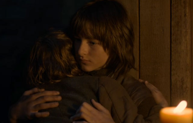 File:Bran and Rickon hugging.jpg