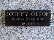 Johnny olson grave