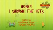 Honey I Shrunk The Pets Title Card