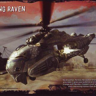 Raven atando fuego enemigo.