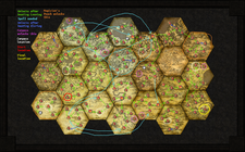 Hexile map paths