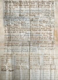 Jenner-England wedding certificate 1901