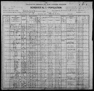 Census of Florence Township Benton County Iowa 1900 pg01