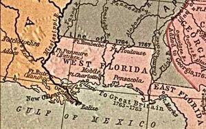 West Florida Map 1767