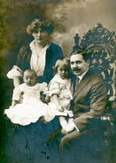 Emil August Schneider and family circa 1913-1914