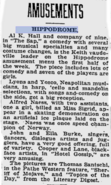 Karl Alfred Ingvald Naess (1877-1955) in the Reading Eagle on June 14, 1921