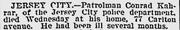 Kahrar-Conrad patrolman 1905 death