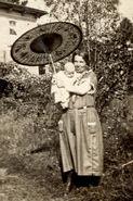 Beulah Price Holding John Borland in 1924