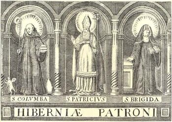 Monasticon Hibernicum 1873 Three Patron Saints