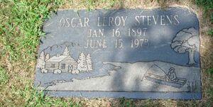 Oscar LeRoy Stevens (1897-1973) Riverside Cem Kzoo MI