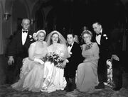 Wedding of Ruby Margaret Olson (1924-2011) and Albert Duane Engstrom on April 6, 1949
